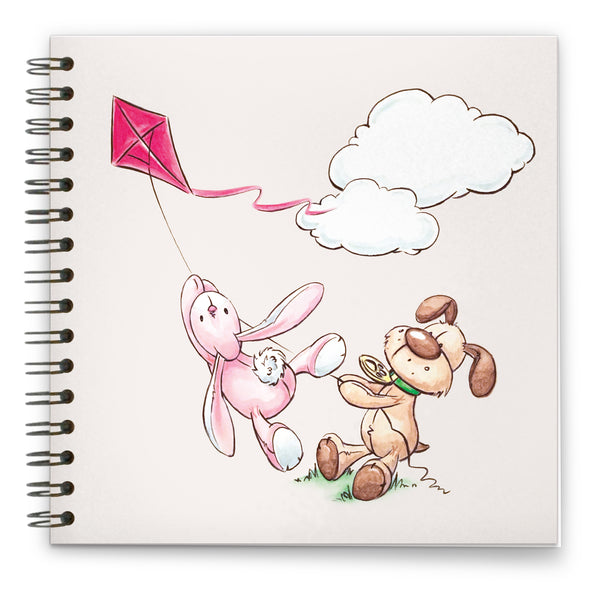 High Flying Kite: Spiral-bound Notebook 140mm sq.