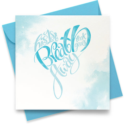 His First Breath: Greeting Card