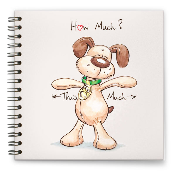 How Much Love: Spiral-bound Notebook 140mm sq.
