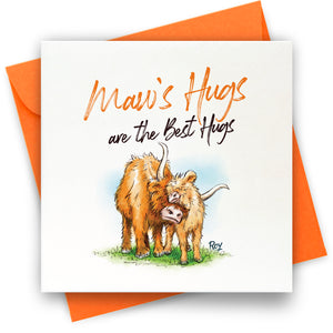 Maw's Hugs: Greeting Card