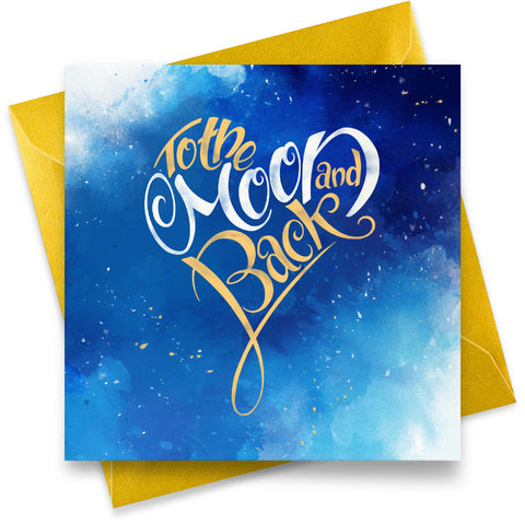 Moon and Back: Greeting Card