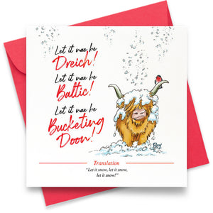 Let it Nae be Dreich: Greeting Card
