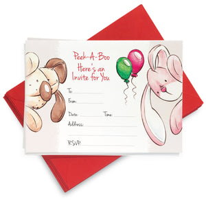 Party Balloons Invites: Pack of 8