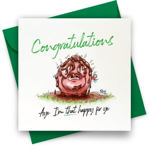 Pig in S***: Greeting Card