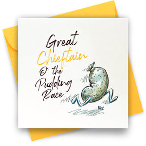 Pudding Race: Greeting Card