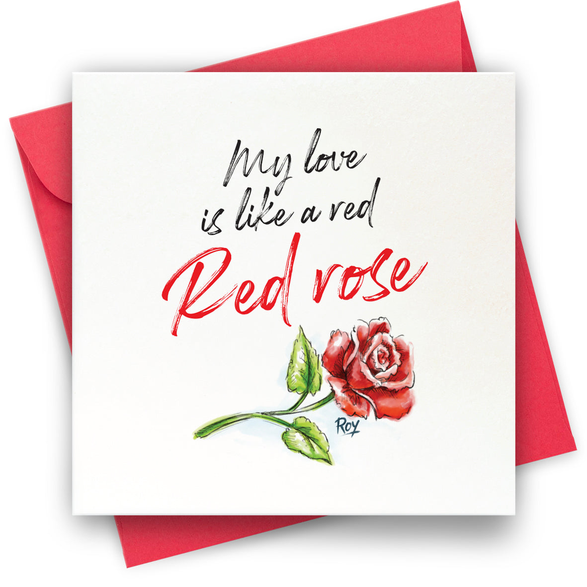 Red Rose: Greeting Card