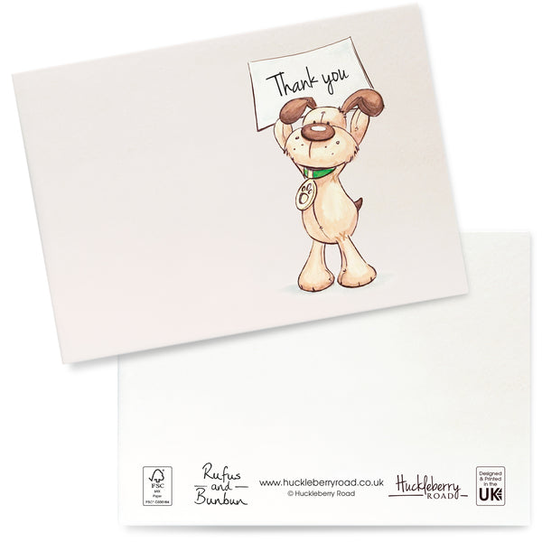 Rufus Sign Thank You Cards: Pack of 8