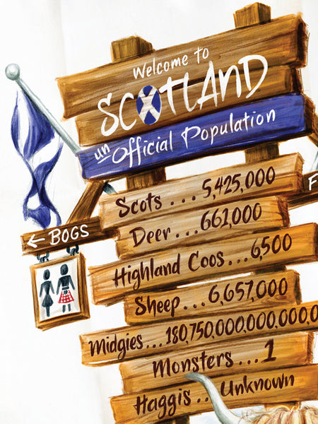 Scotland's Population: Tea Towel