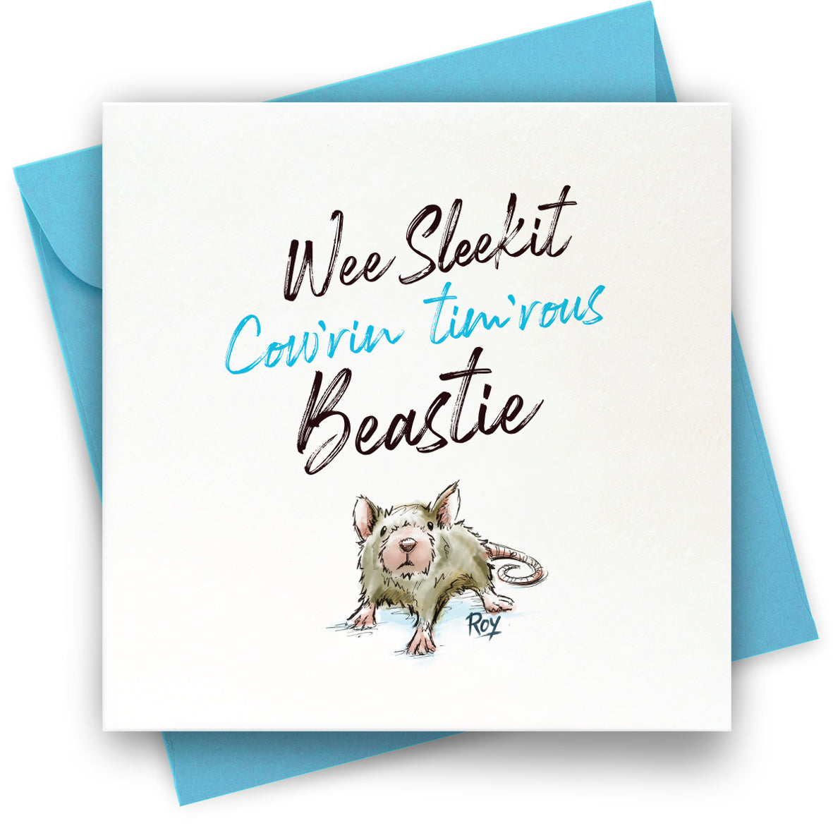 Cow'rin Wee Beastie: Greeting Card