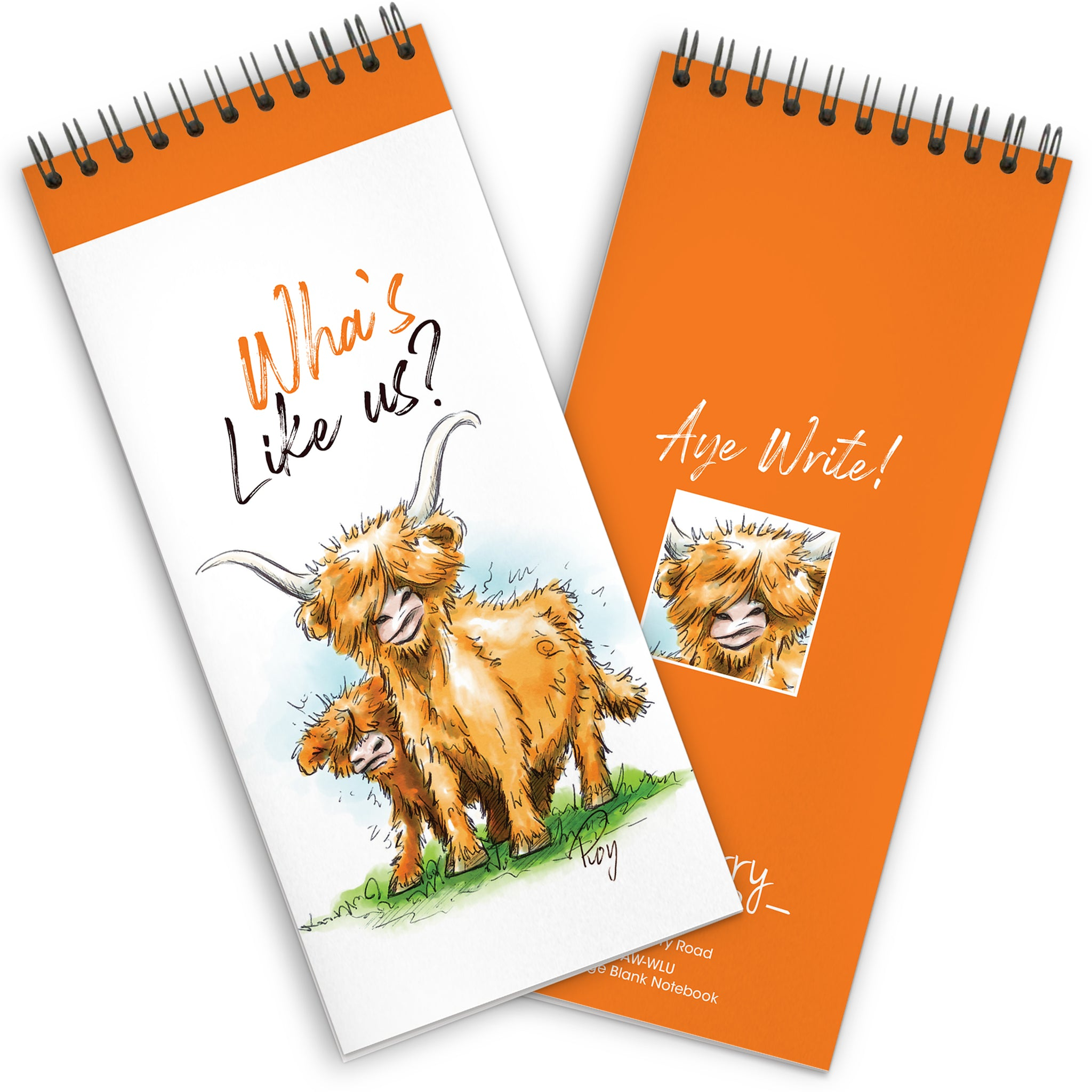 Wha's Like Us?: Spiral-bound Notebook 95x210mm