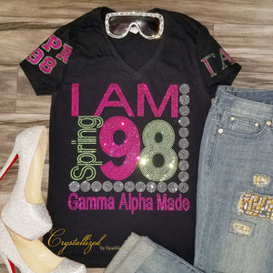 Alpha Kappa Alpha I Am Rhinestone Tee with Personalization