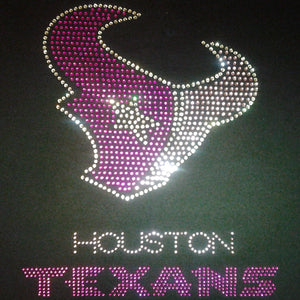 Houston Texans Breast Cancer Rhinestone Tee