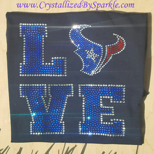 Houston Texans LOVE Rhinestone Tee