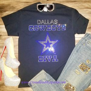 Dallas Cowboys Diva Rhinestone Tee