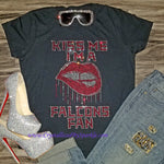 Kiss Me Atlanta Falcons Rhinestone Tee
