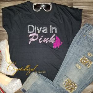 Breast Cancer Awareness Diva Rhinestone Tee
