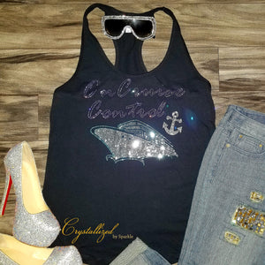 On Cruise Control Rhinestone Tank Top