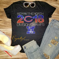 Chicago Bears 2018 Division Champs Rhinestone Shirt