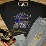 Los Angeles Rams and Wine Rhinestone Tee