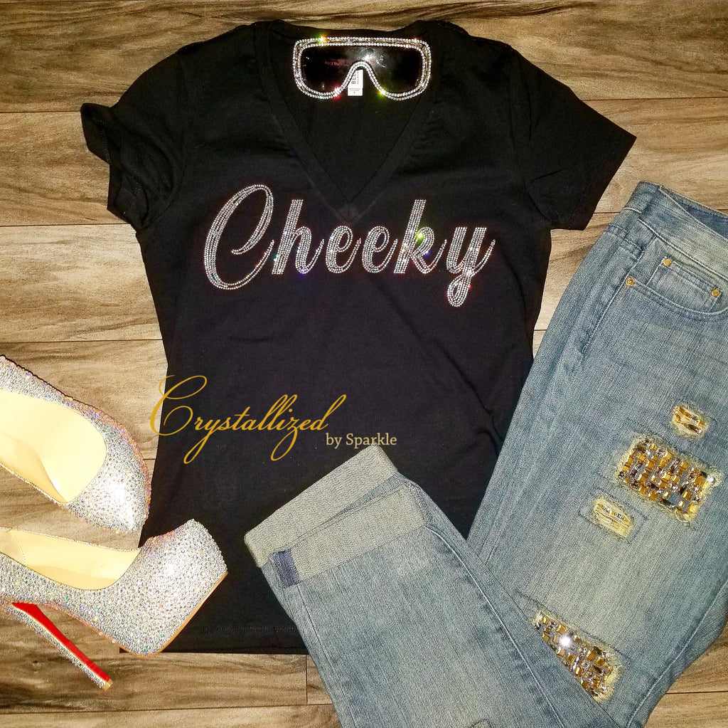 Cheeky Crystallized Rhinestone Tee