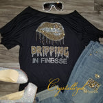 Dripping In Finesse Rhinestone Tee