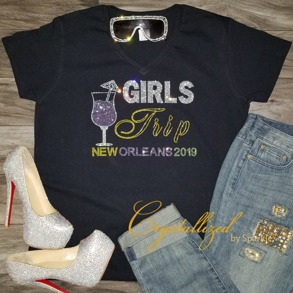 Girls Trip New Orleans Rhinestone Tee