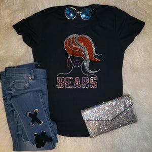Chicago Bears Lady Rhinestone Tee