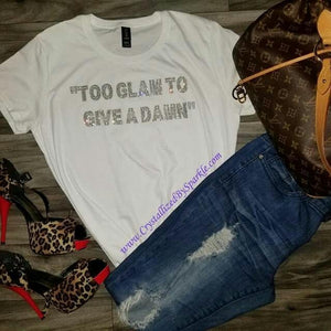 Too Glam Bling Bling Rhinestone T-Shirt