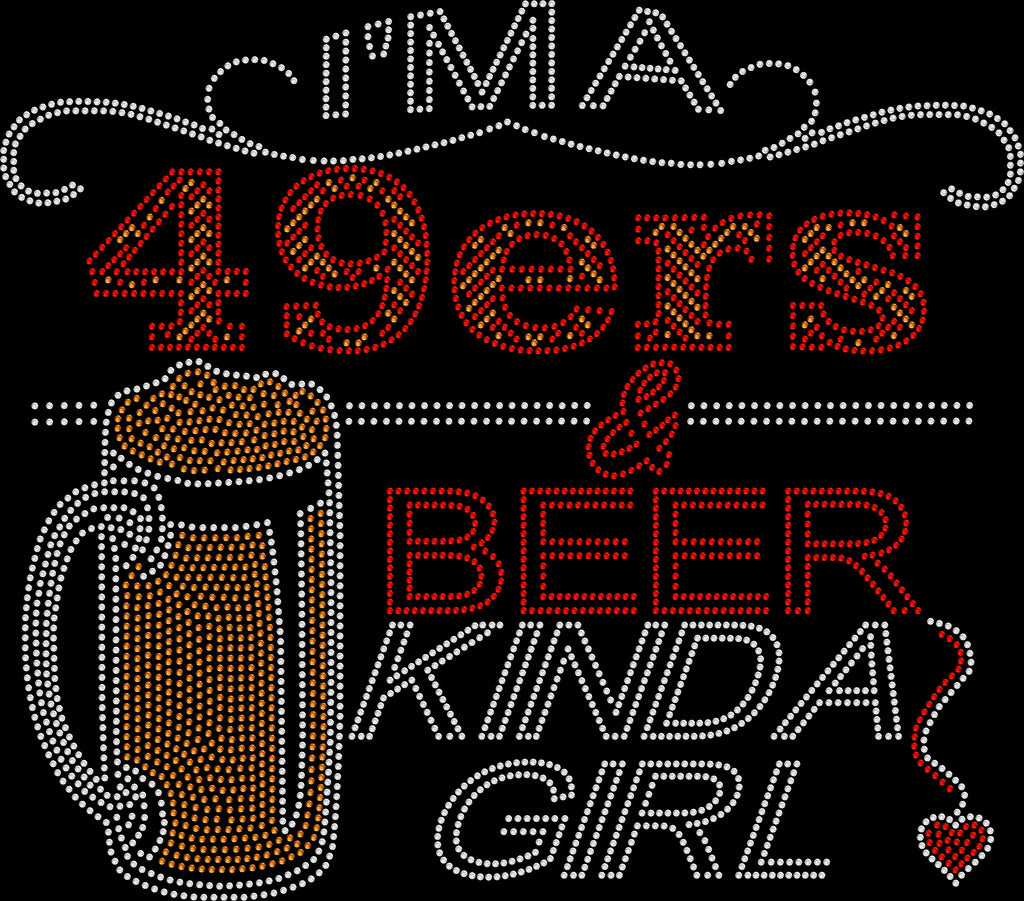49ers and Beer Rhinestone Tee