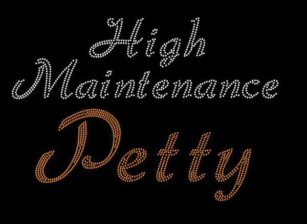 High Maintenance Petty Rhinestone Tee