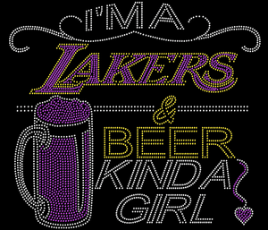 Lakers and Beer Rhinestone Tee