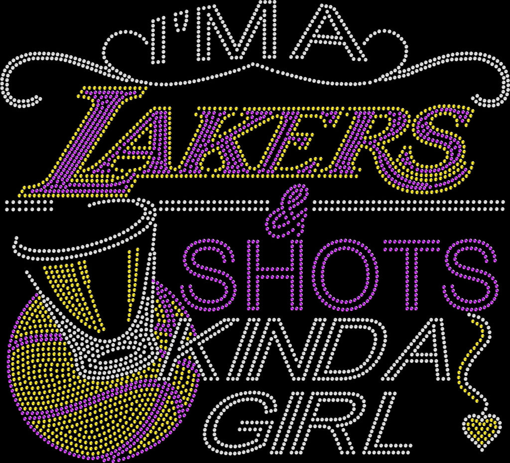 Lakers and Shots Rhinestone Tee