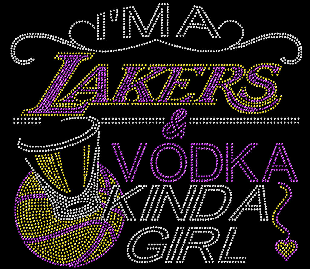 Lakers and Vodka Rhinestone Tee