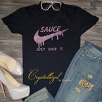 Just Drip It Nike Inspired Rhinestone Tee