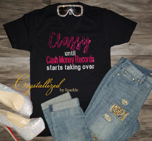 Cash Money Records Rhinestone Tee