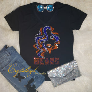 Chicago Bears Fancy Lady Rhinestone Tee
