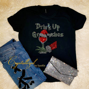 Drink Up Grinches Rhinestone Tee
