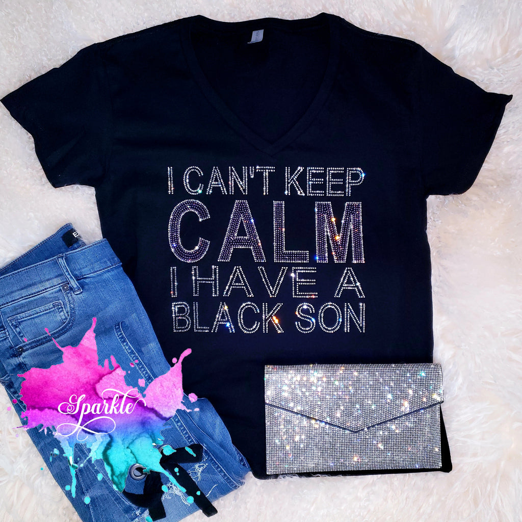 I Can't Keep Calm Rhinestone Tee
