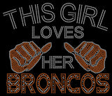 Denver This Girl Loves Her Broncos Rhinestone Tee