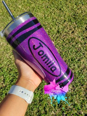 Personalized Stainless Steel Crayon Tumbler
