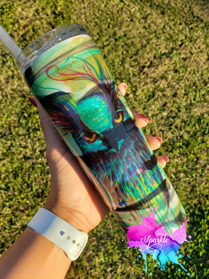 Personalized Stainless Steel Camo Tumbler