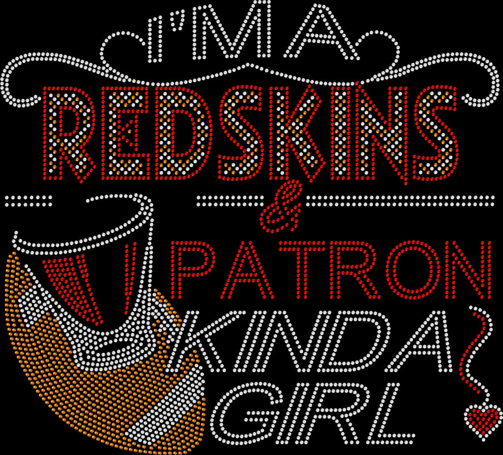 Redskins and Patron Rhinestone Tee