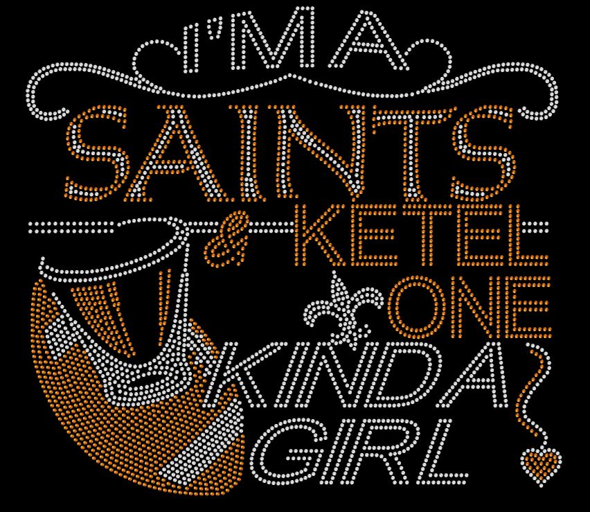New Orleans Saints and Ketel One Rhinestone Tee