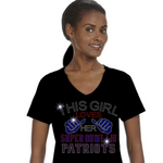 Patriots Inspired Super Bowl Rhinestone T-Shirt
