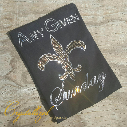 Saints Any Given Sunday Rhinestone Tee