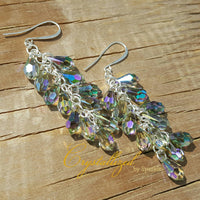 Crystal Pendant Drop Bridal Wedding Earrings in Crystal Paradise Shine Adorned with Swarovski® Crystals