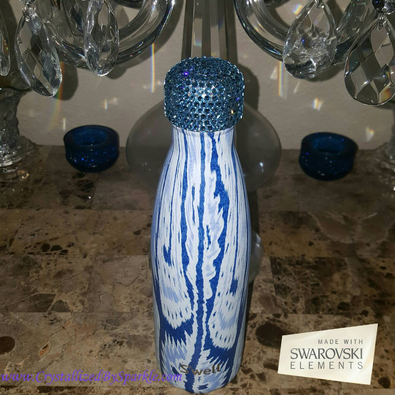 S'Well Water Bottle Adorned with Swarovski® Crystals (17 oz Capacity)