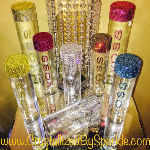 Crystallized Voss Water Bottle Adorned with Swarovski® Crystals (375mL)