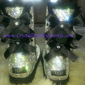 Ask About Special Discounts - Crystallized Women's Adult Bailey Bow UGG Boots Adorned with Swarovski® Crystals