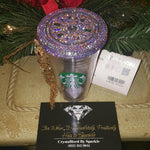Swarovski Starbucks Cold Reusable Cup Adorned with Swarovski® Crystals